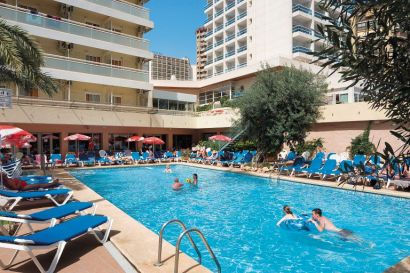 Hotel Benidorm Plaza Pool  And Main Building