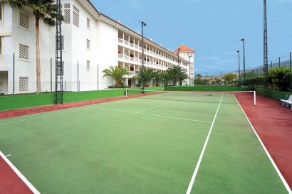 Tennis Courts At The Riu Arecas Hotel